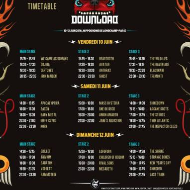Download Festival France 2016 : Le Running Order est en ligne