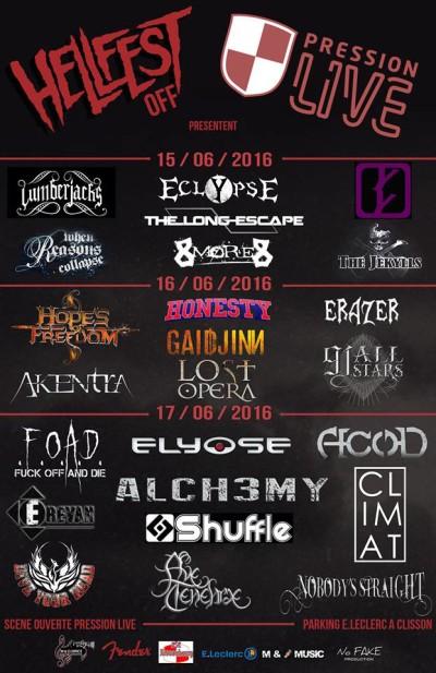 Hellfest Off les 15,16 et 17 Juin