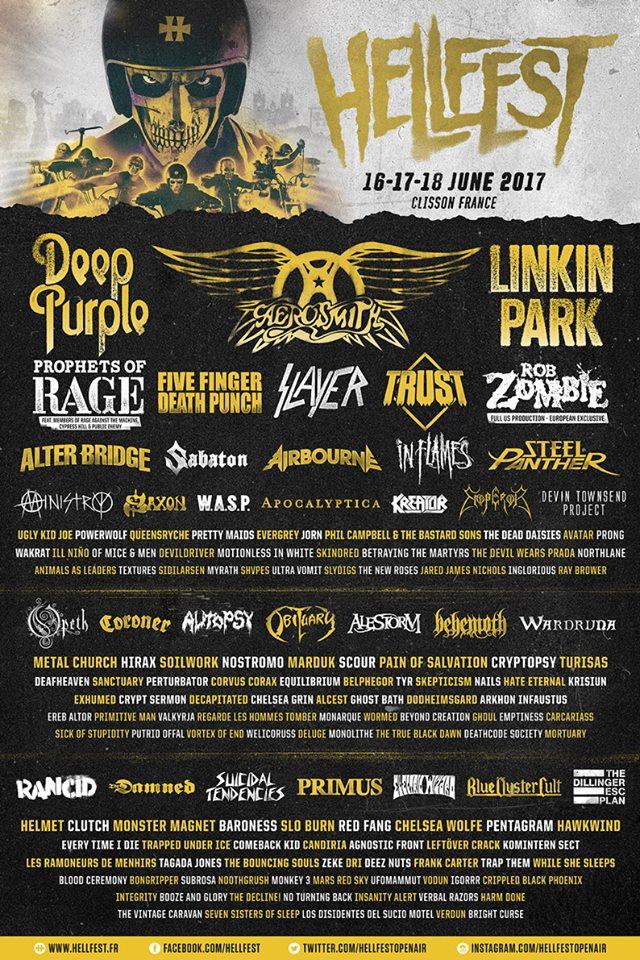 Hellfest 2017 : L'affiche enfin dévoilée
