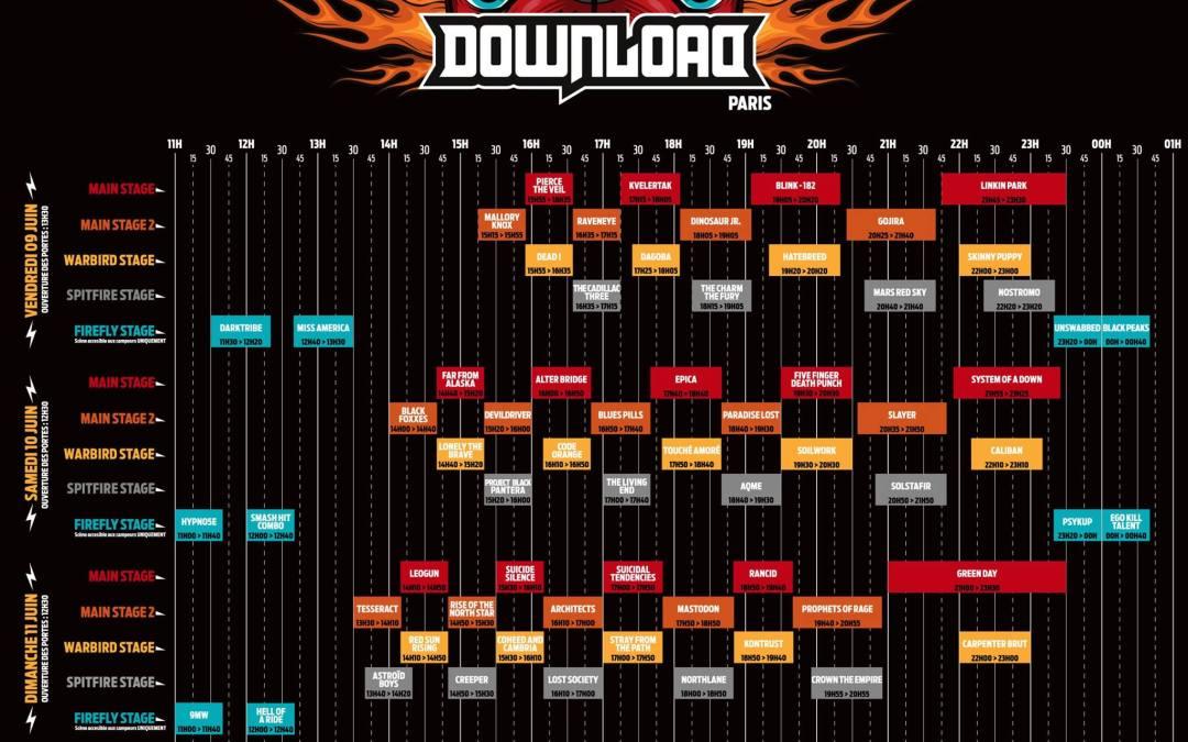 Download Festival France 2017 Le Running Order est en ligne