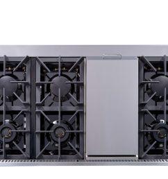 hrg4808u 48 6 burner stainless steel professional gas range back [ 1600 x 1201 Pixel ]