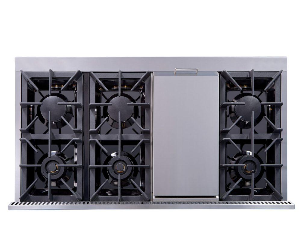 medium resolution of hrg4808u 48 6 burner stainless steel professional gas range back