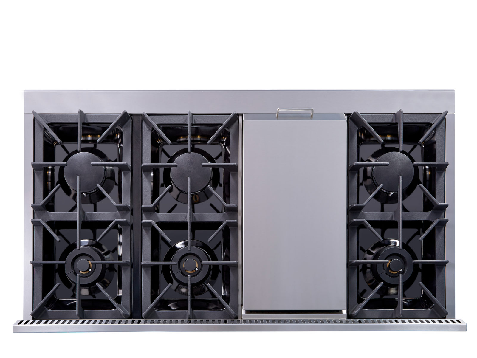 hight resolution of hrg4808u 48 6 burner stainless steel professional gas range back