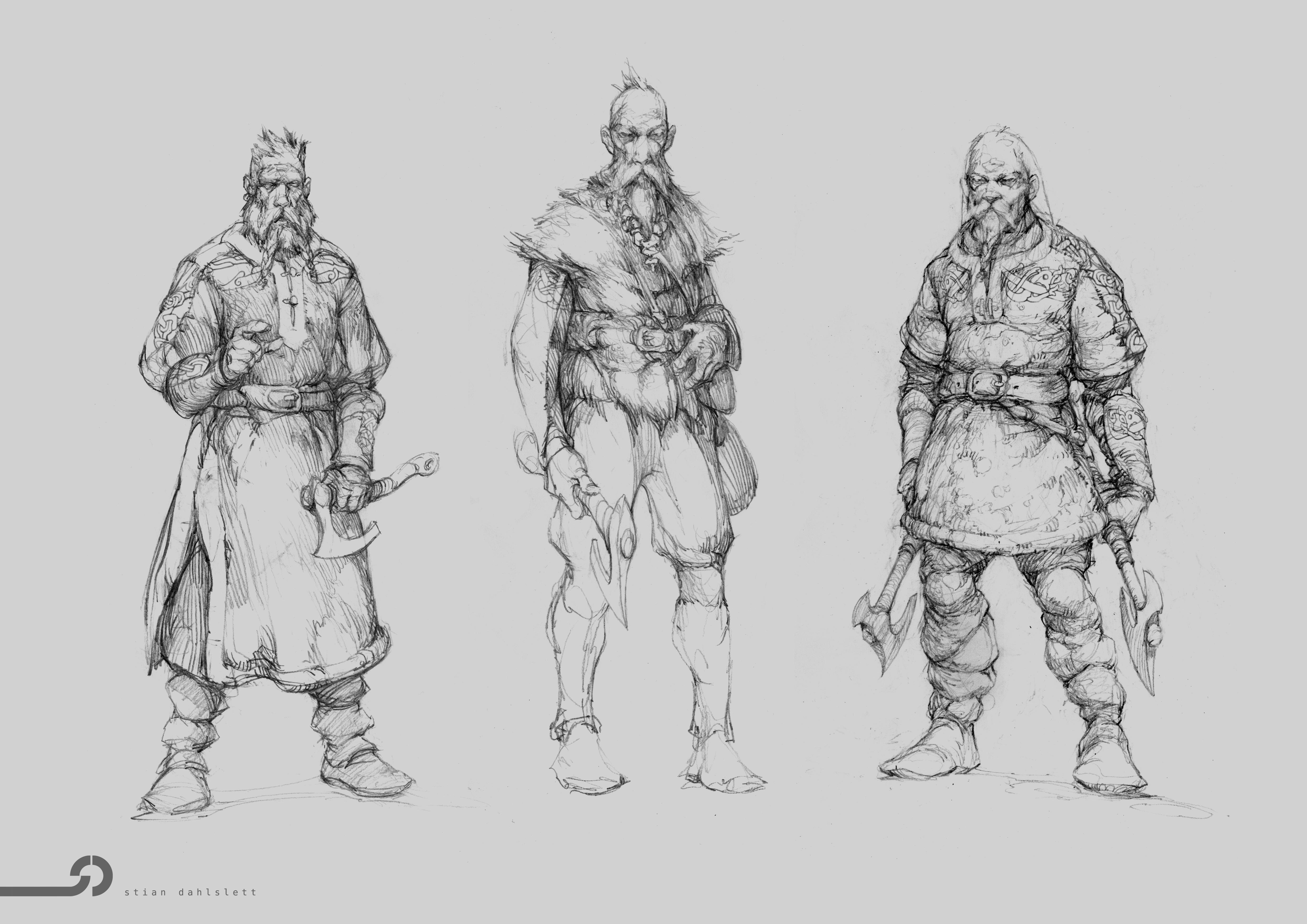 Norse Warriors Going Berserk