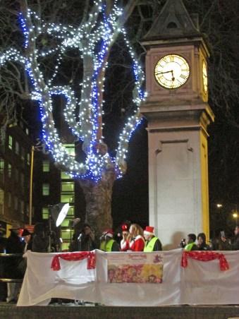Clocktower and Christmas lights 4s