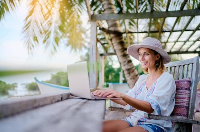 digital nomad working from home