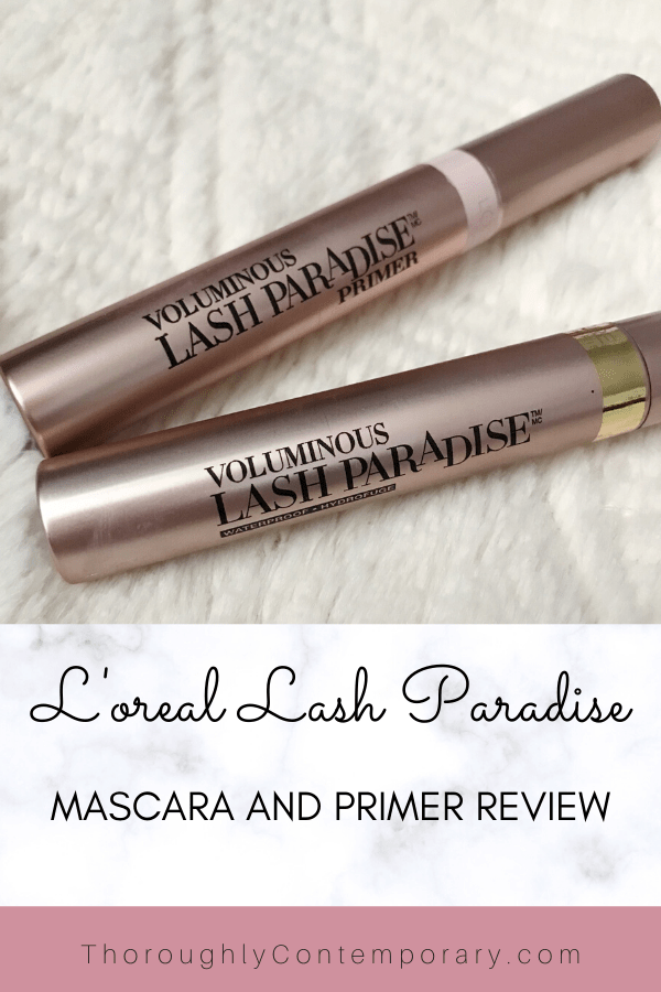 L'Oréals lash paradise primer and mascara review