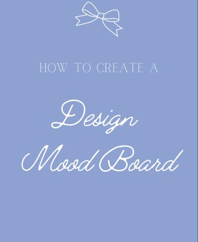 How to create a design mood board
