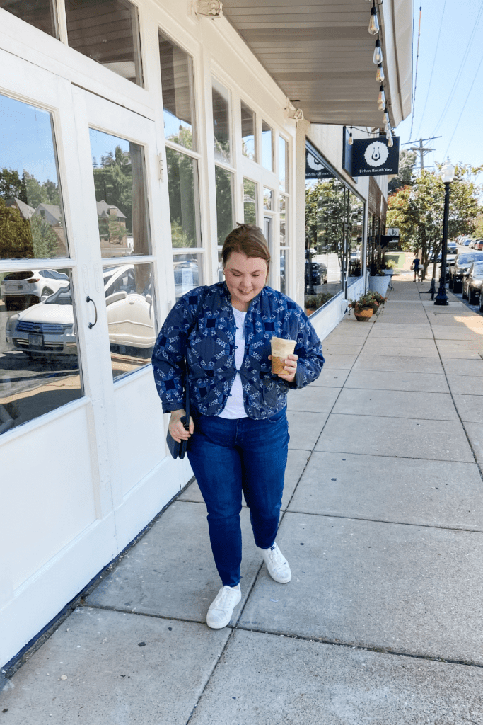 Target Fall Outfit with a Quilted jacket