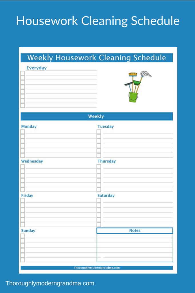 Housework Cleaning Schedule To Simplify Your Life Home