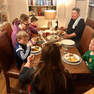 family dinner chicken stock