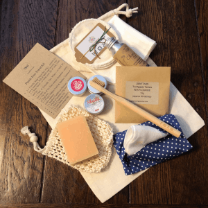 Plastic Free Toiletries Travel Kit