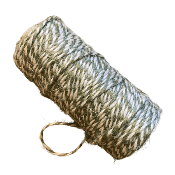 jute green and white twine