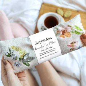 Handmade Linen Lavender and Wheat Eye Pillow