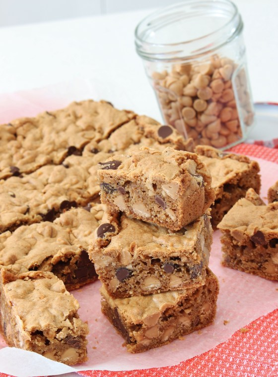 Peanut Butter Chocolate Chip Blondies | Gluten Free | Thoroughly Nourished Life | thoroughlynourishedlife.com
