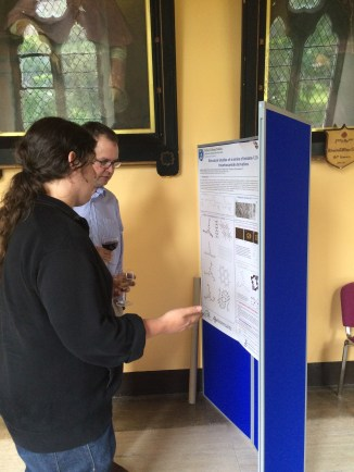 Chris at his poster with Prof. Phil Gale