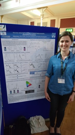 Oxana presenting her poster