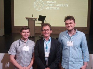 Eoin with Prof. Ben Feringa and David McNulty