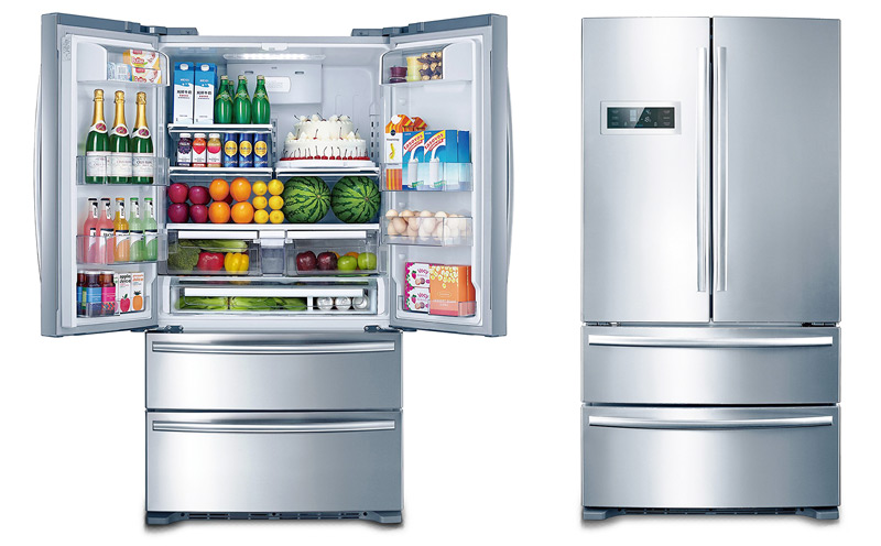 kitchen refrigerator heat lamps appliances and accessories by thor 36 inch with french doors two freezer drawers