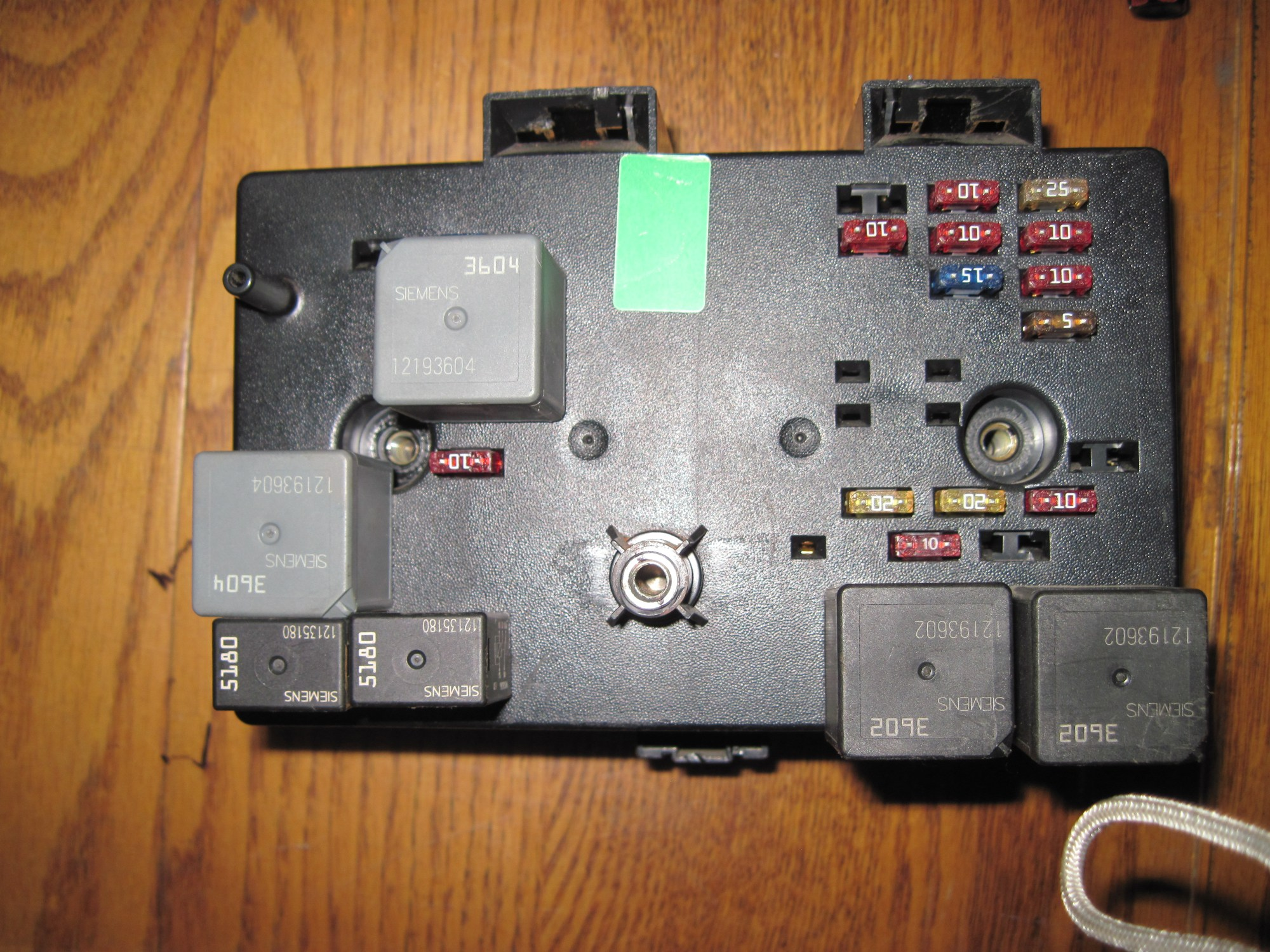 hight resolution of fuse box diagram for 99 lincoln town car