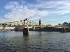 Enjoying a walk along the Main river in the morning