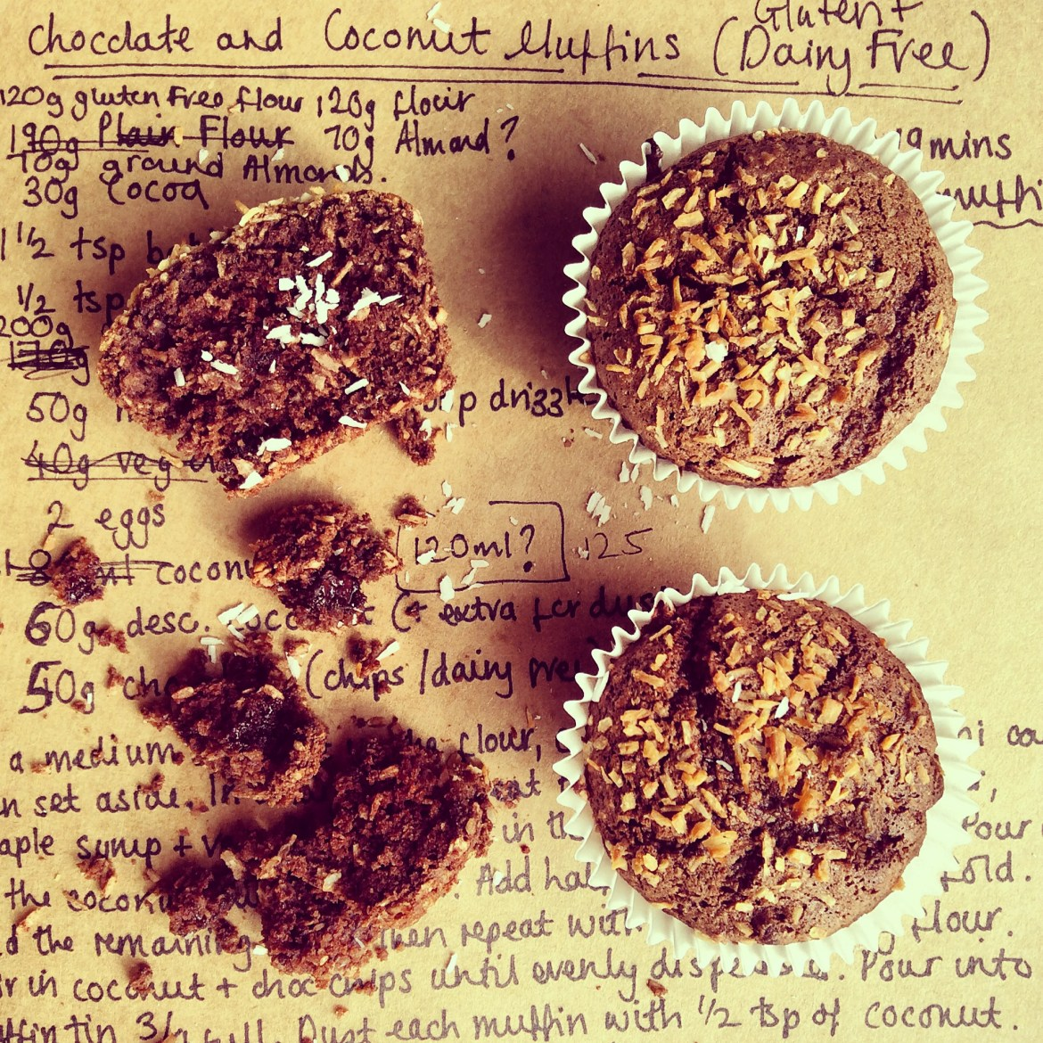 Chocolate and Coconut Muffins