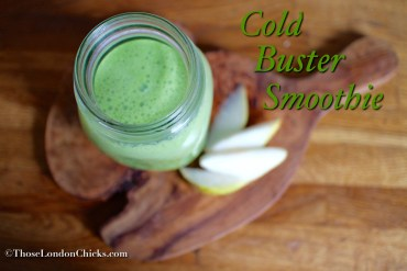 cold-buster-smoothie-pears-lemon-ginger-spinach-flaxseed-thoselondonchicks