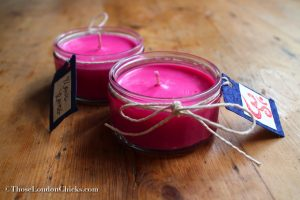 homemade-soy-candle-pink-recycled-jar-om-stamp