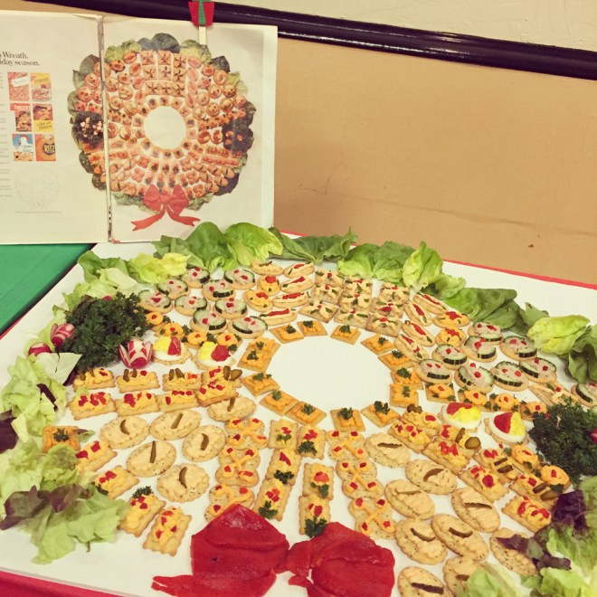 Faithful recreation of a cracker ad by Mrs. Garibaldi!