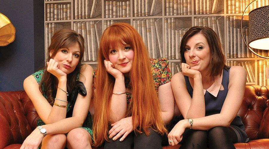 THOSE THREE GIRLS, COMEDY WRITER PERFORMERS, FUNNY WOMEN, FEMALE COMEDY, GIRLBAND, SUSANNAH ADELE, CARLY SHEPPARD, LUCY BARNETT