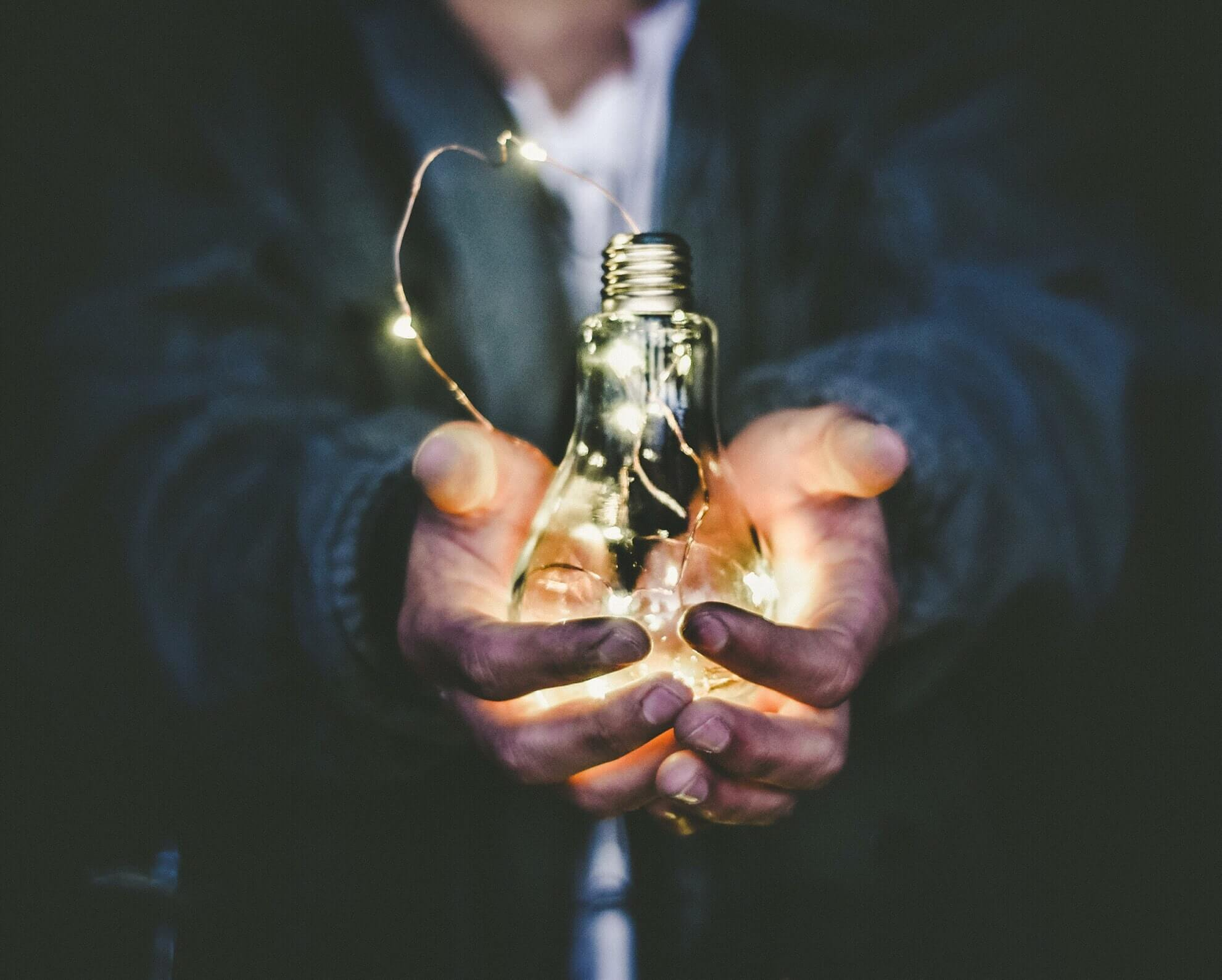 Technical leadership can help turn the idea that is represented by the light bulb into a software application.