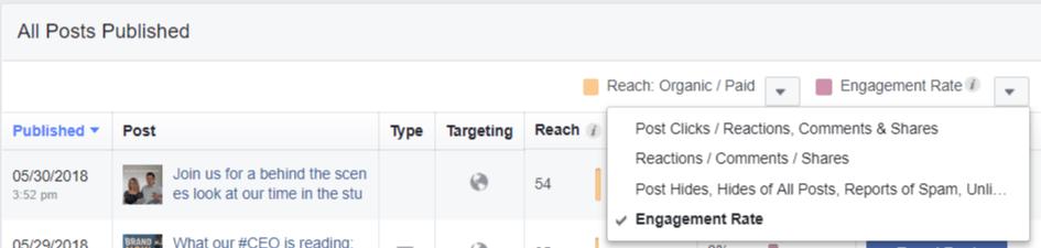 Facebook Individual Post Insights