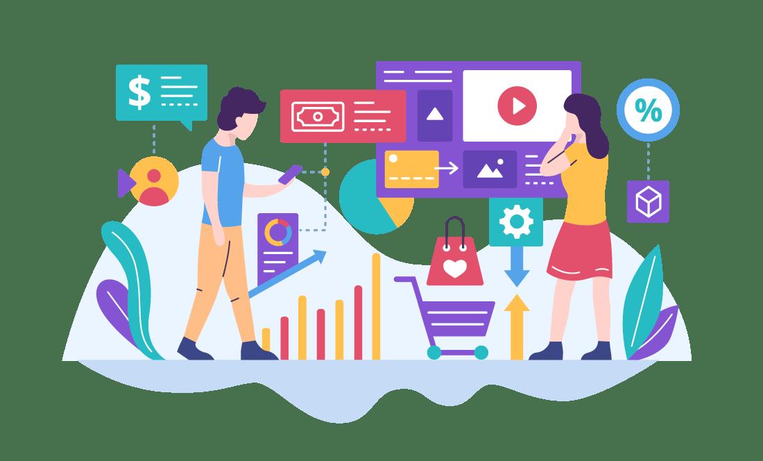 Video marketing strategy illustration