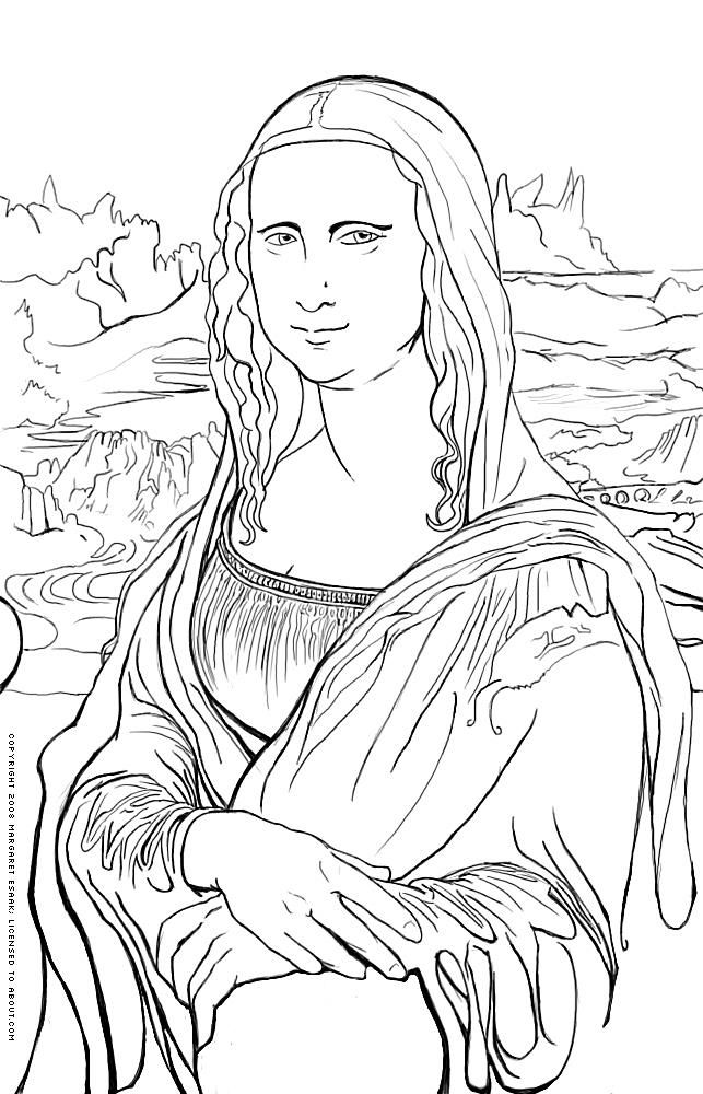 Famous Painting Coloring Pages : famous, painting, coloring, pages, History, Coloring, Pages, Famous, Works