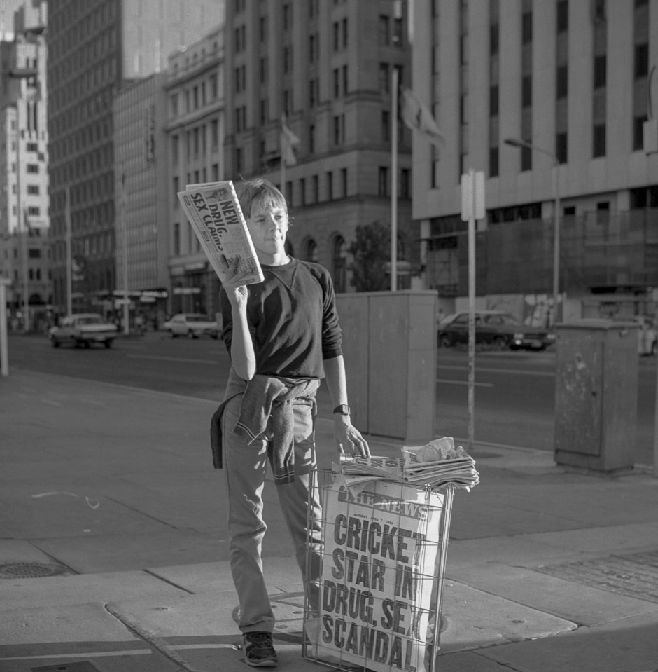 newspapers boy, Adelaide