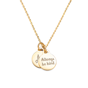 dainty twin engravable gold