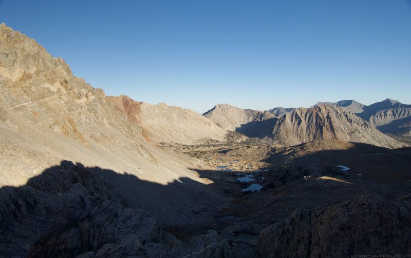 Looking south from the top of Pinchot Pass