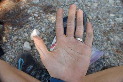 My dirtball hands!