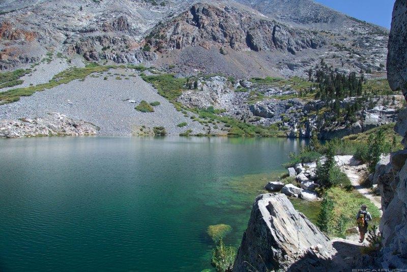 Friz rounding Dollar Lake