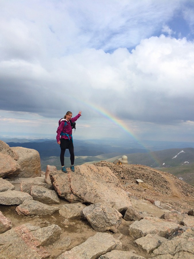 Rainbow from the summit!