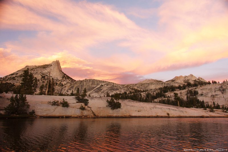 Sunset at Lower Cathedral Lake