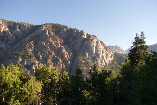 Sunrise on the climb up Bear Ridge