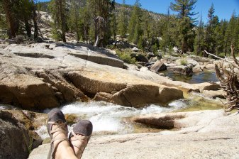 My feet enjoying a break
