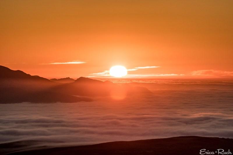 Sunrise over Santa Cruz Island