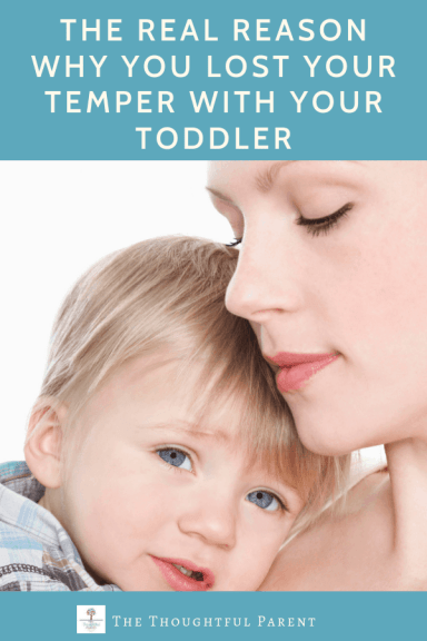 losing temper with your toddler
