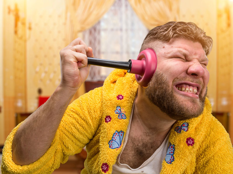 Would You Clean Your Ears With A Plunger?