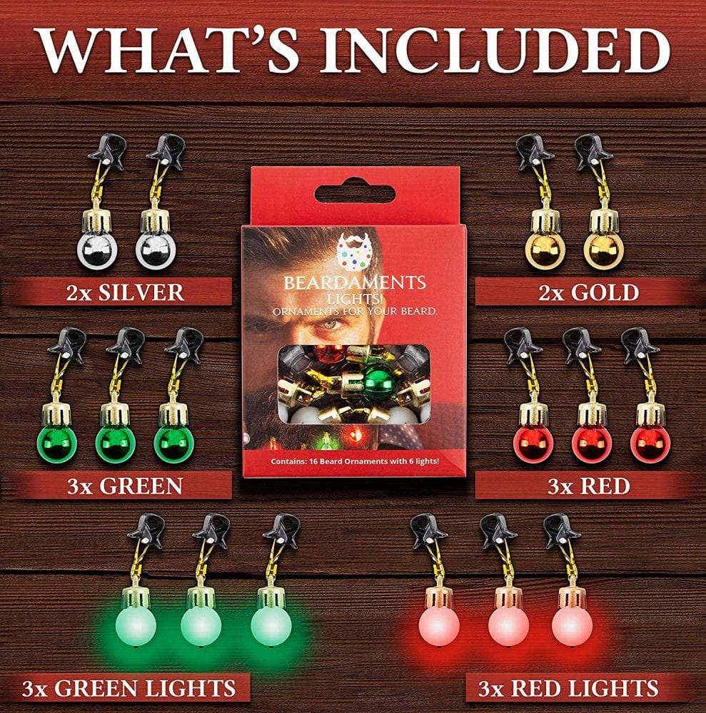 Beard Christmas Lights Now Available For Your Rugged Partner: How Times Have Changed