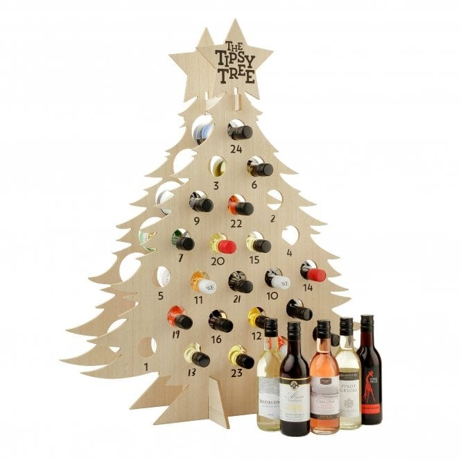 "Have A Different Wine Bottle Everyday With The Wine Advent Calendar, ""The Tipsy Tree"""