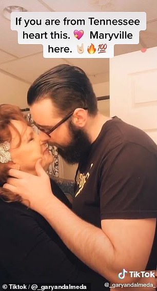 A 76-year-old grandmother and her 22-year-old husband are making out on TikTok