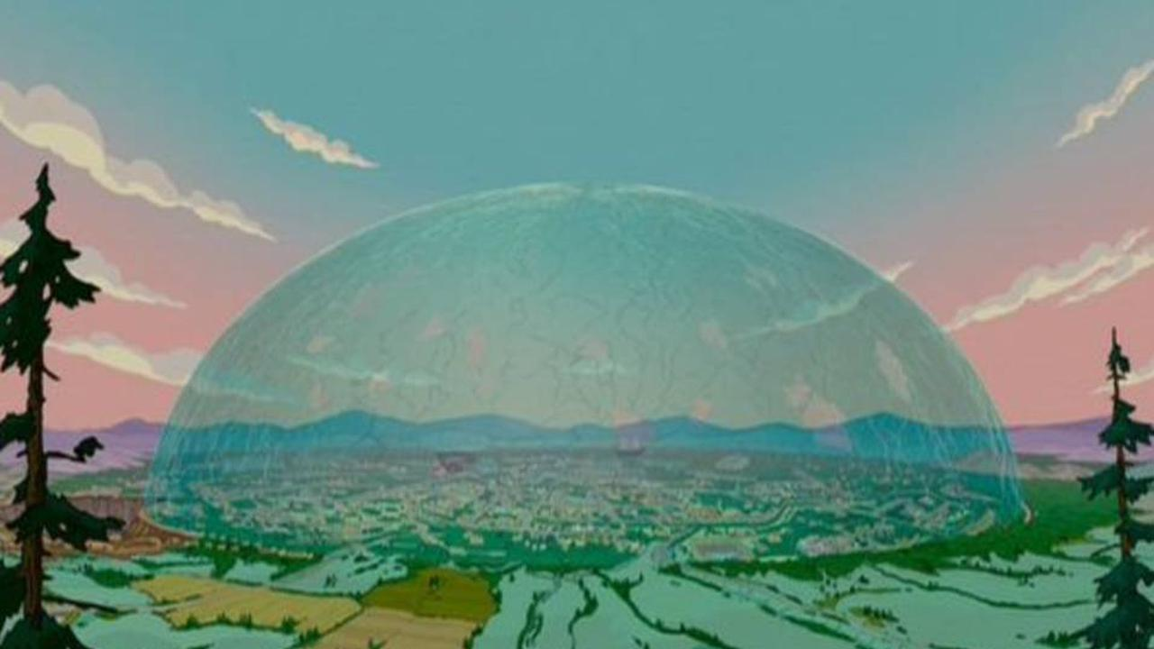 people are saying another simpsons prediction has come true with glass dome